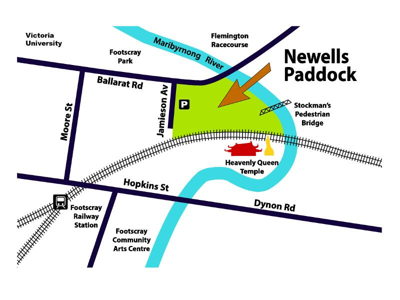 Newells-Paddock-map